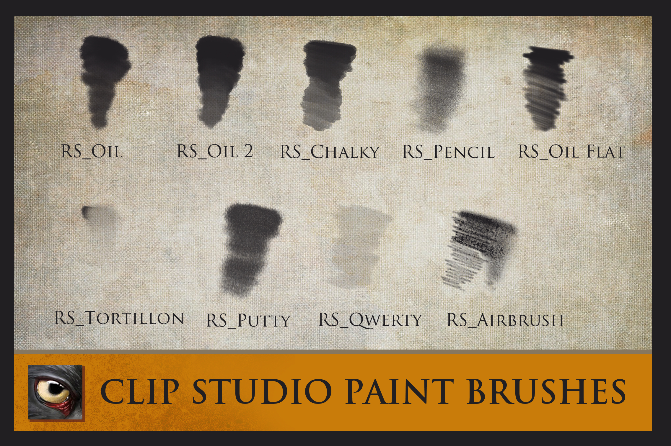 Clip Studio Paint Brushes - Textured Oils